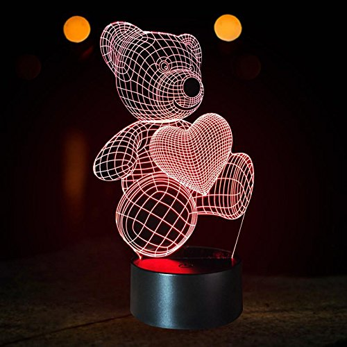LED teddy lamp valentine's day gift